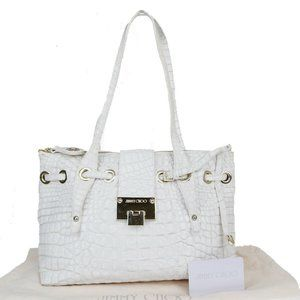 Jimmy Choo Leather Shoulder Bag White
